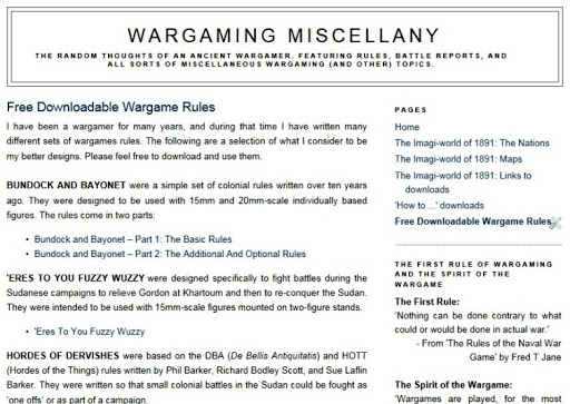 Free wargames rules … are here!   WARGAMING MISCELLANY