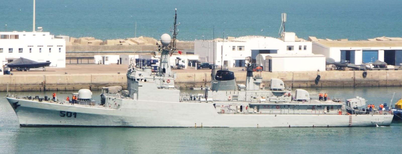 Royal Moroccan Navy Descubierta Frigate / Patrouilleur Océanique Lt Cl Errahmani - Bâtiment École - Page 3 7be2b-descubertia-casablance01
